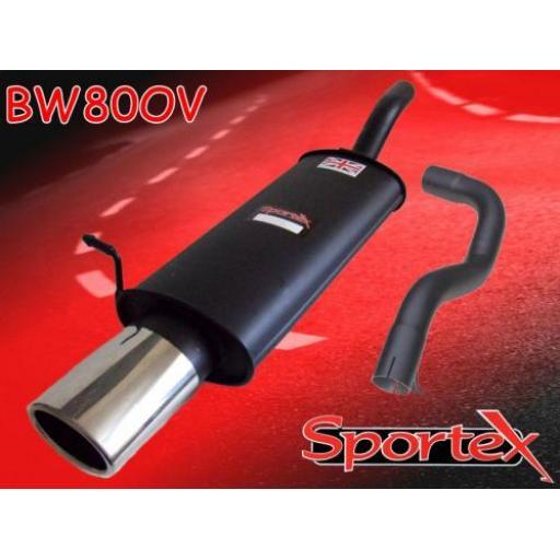Sportex VW Golf mk4 2.0i GTi exhaust back box 2001-2004 OV