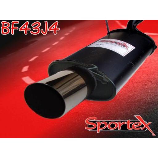 Sportex Ford Fiesta exhaust back box 1.25i 1.3i 1995-2002 J4