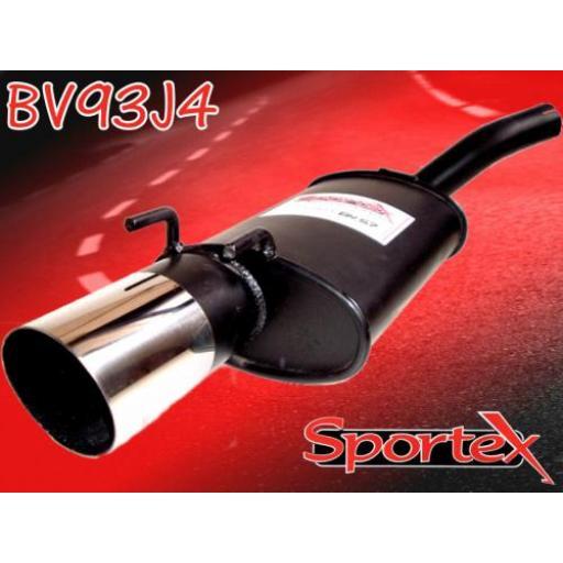 Sportex Vauxhall Corsa B exhaust back box 1.0i 1997-2000 J4