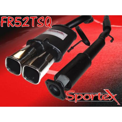 Sportex Renault Clio exhaust system 2.0i 172 Sport TSQ