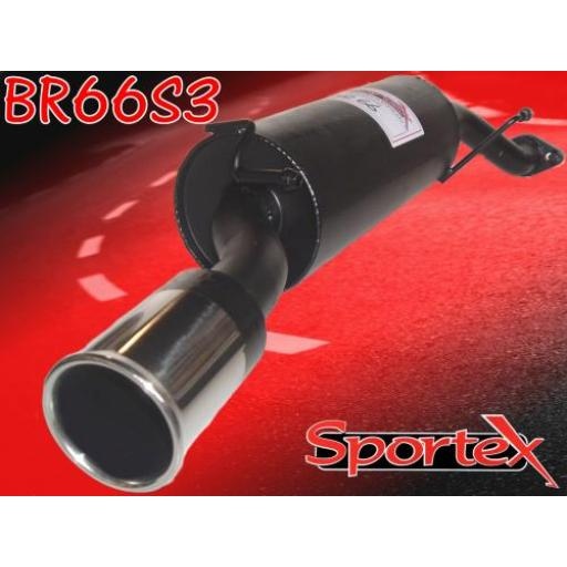 Sportex MG ZS exhaust back box 1.8i saloon 2001-2005 S3