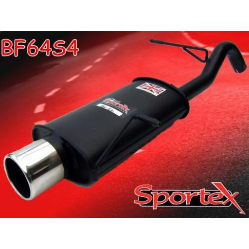Sportex Ford Fiesta exhaust back box 1.25i 1.4i 2008-2012 S4