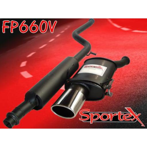 Sportex Peugeot 206 2.0i GTi performance exhaust system 1999-2007 OV