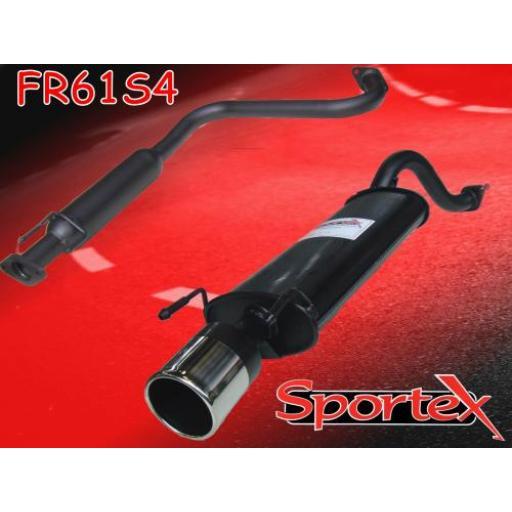 Sportex MG ZR exhaust system 2001-2005 S4