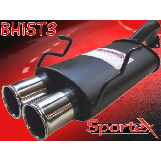 Sportex Honda Civic Type R exhaust back box EP3 2001-2006 T3