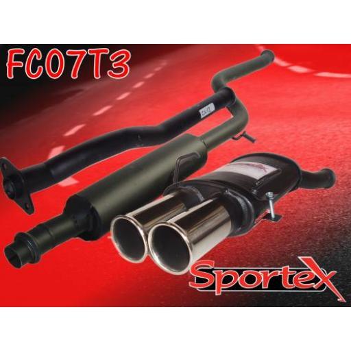 Sportex Citroen Saxo performance exhaust system 1.1 1.4 1.6 00-03 T3