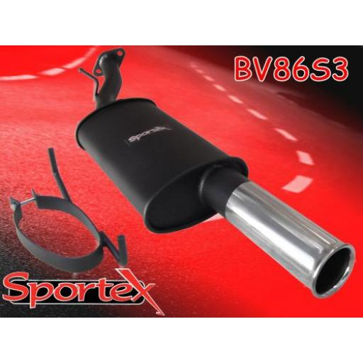 Sportex Vauxhall Astra mk4 coupe exhaust back box S3