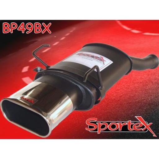 Sportex Peugeot 106 exhaust back box series 1 1991-1996 BX