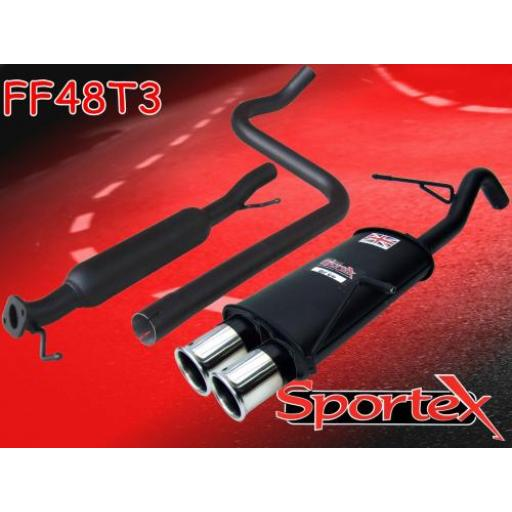 Sportex Ford Fiesta mk7 performance exhaust system 1.6i 2009-2012 T3