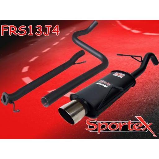Sportex Ford Fiesta mk7 race tube exhaust system 1.6i 2009-2012 J4