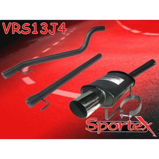 Sportex Vauxhall Astra mk5 performance exhaust system 2005- J4