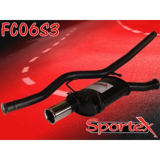 Sportex Citroen Saxo performance exhaust system 1.0i 1.1i 96-00 S3