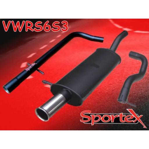 Sportex VW Golf mk4 performance exhaust system 1997-2004 S3