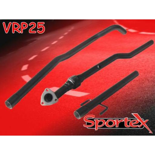 Sportex Vauxhall Corsa C exhaust race tube 2000-2003