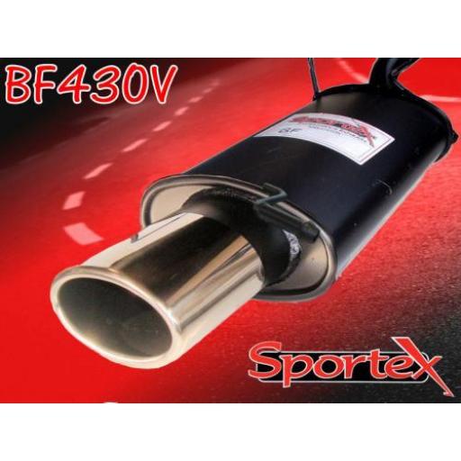 Sportex Ford Fiesta exhaust back box 1.25i 1.3i 1995-2002 OV