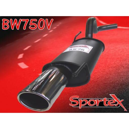 Sportex VW Polo exhaust back box 8v 16v 1994-2000 OV