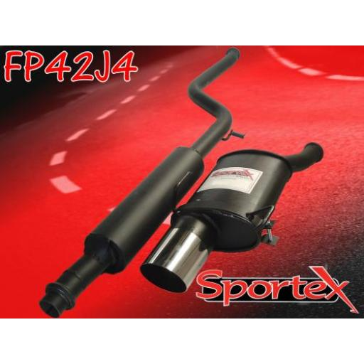 Sportex Peugeot 106 exhaust system 1.4i 1.6i 96-00 J4