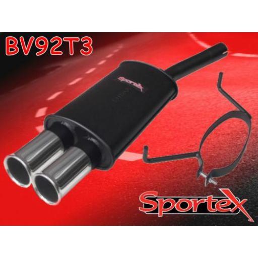 Sportex Vauxhall Astra mk5 exhaust back box hatch 2005-2010 T3