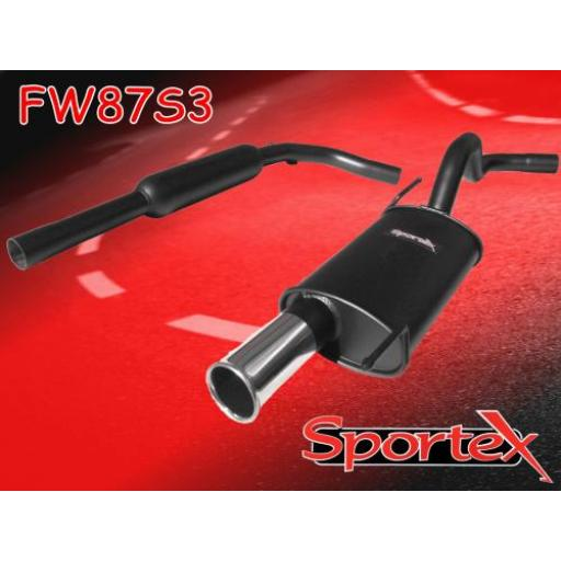 Sportex VW Polo exhaust system 1.4i 16v 1996-2000 S3