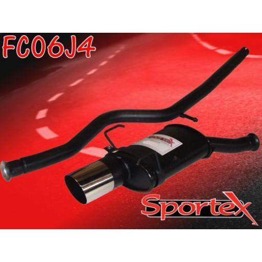 Sportex Citroen Saxo performance exhaust system 1.0i 1.1i 96-00 J4