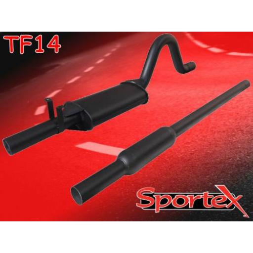 Sportex Ford Escort OHC twin box exhaust system 1968-1981 (2.25 dia)