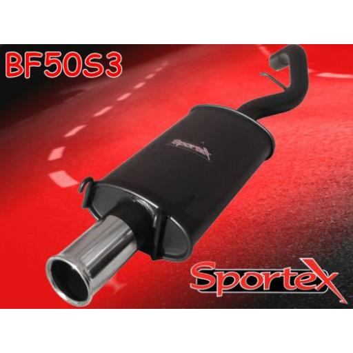 Sportex Ford Escort exhaust back box 1.8i zetec S3