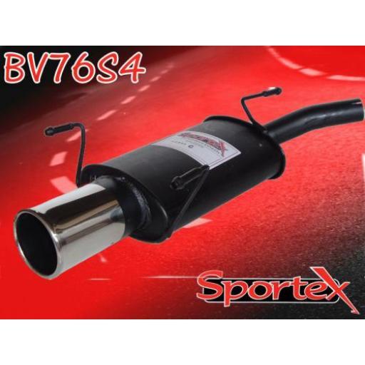 Sportex Vauxhall Corsa C exhaust back box 2000-2006 S4
