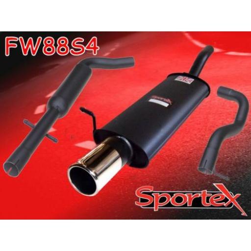 Sportex VW Golf exhaust system mk4 1997-2004 S4