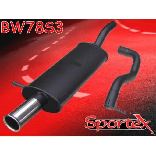 Sportex VW Golf mk4 2.0i GTi APK, AQY exhaust back box 1999-2001 S3