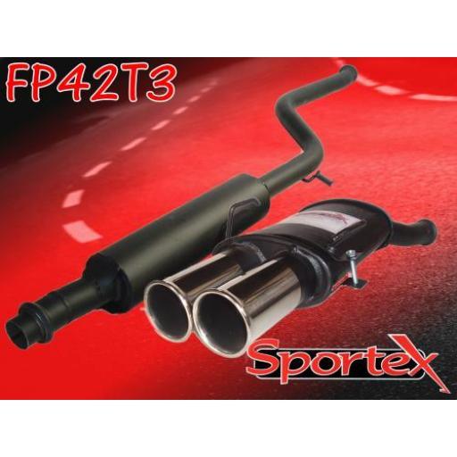 Sportex Peugeot 106 exhaust system 1.4i 1.6i 96-00 T3