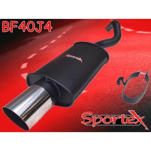 Sportex Ford Escort exhaust back box 1.6EFi J4