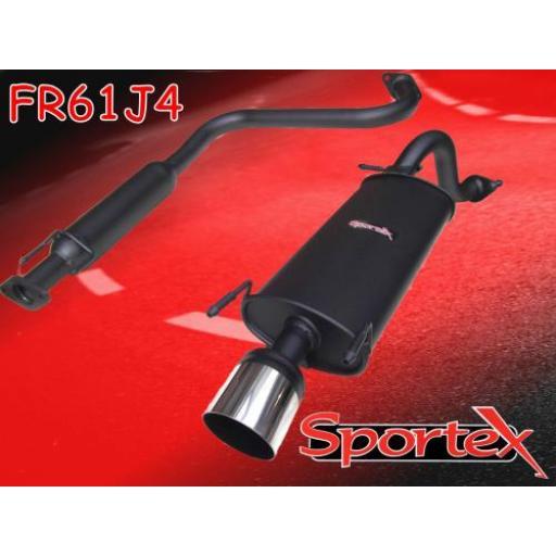 Sportex MG ZR exhaust system 2001-2005 J4
