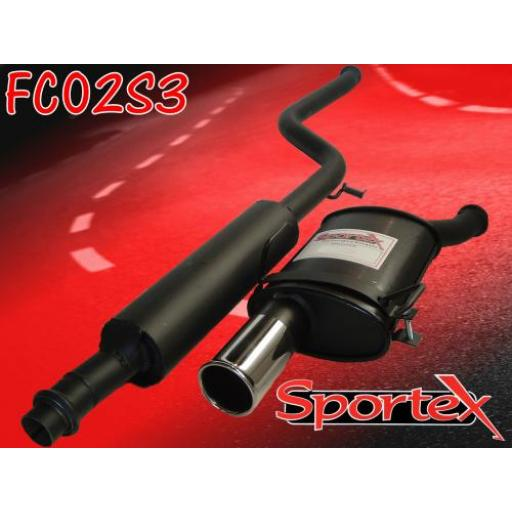 Sportex Citroen Saxo performance exhaust system 1.4i 1.6i 96-00 S3