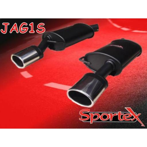 Sportex Jaguar X-Type performance exhaust back box 2.5i 3.0i 2001- OV