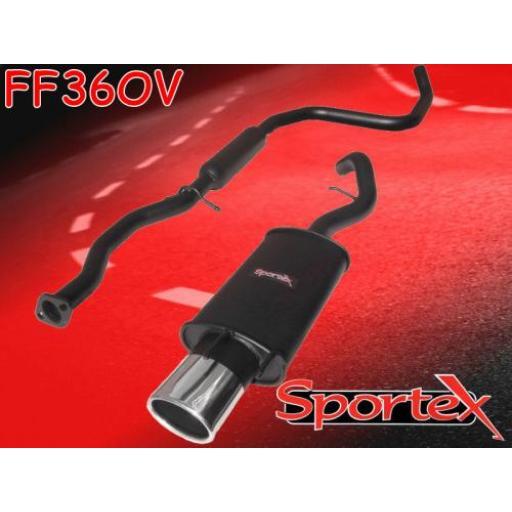 Sportex Ford Escort performance exhaust system 1.8 Si GTi 1997-1999 OV