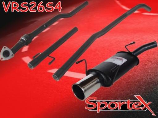 Sportex Vauxhall Corsa C performance exhaust system 2003-2006 S4