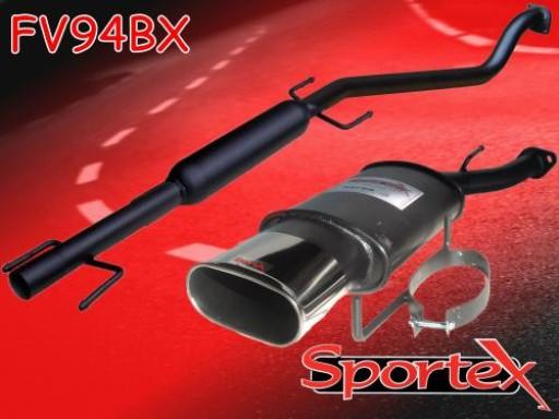 Sportex Vauxhall Astra mk4 performance exhaust system 1998-2004 BX