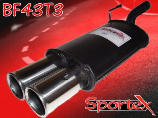 Sportex Ford Fiesta exhaust back box 1.25i 1.3i 1995-2002 T3