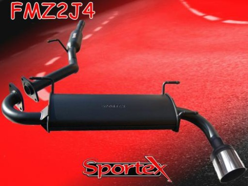 Sportex Mazda MX5 1.6i 1.8i performance exhaust system 1998-2000 J4