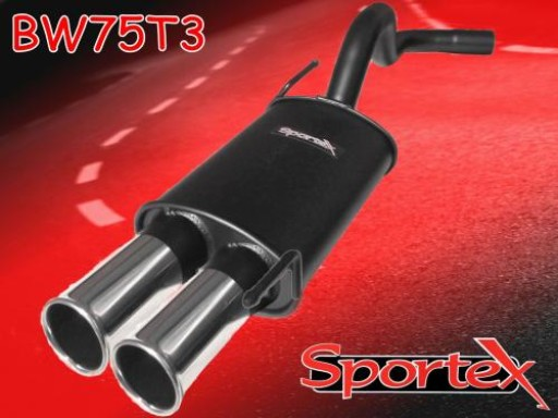 Sportex VW Polo exhaust back box 8v 16v 1994-2000 T3