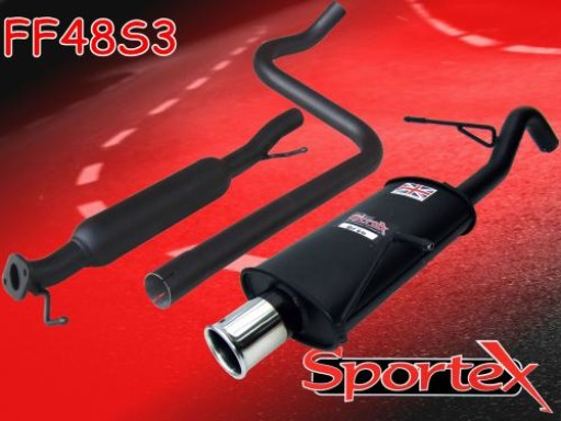Sportex Ford Fiesta mk7 performance exhaust system 1.6i 2009-2012 S3