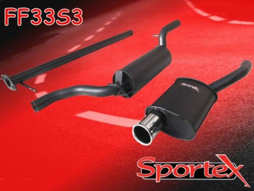 Sportex Ford Focus performance exhaust system 1.8i 2.0i 1998-2004 S3
