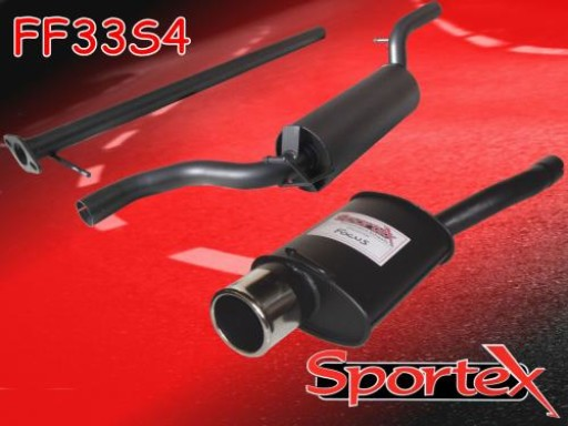 Sportex Ford Focus performance exhaust system 1.8i 2.0i 1998-2004 S4