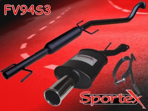Sportex Vauxhall Astra mk4 performance exhaust system 1998-2004 S3