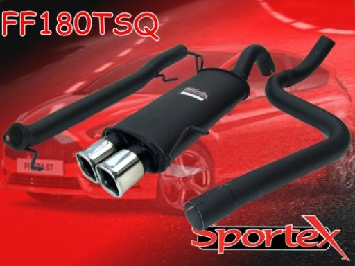 Sportex Ford Fiesta ST180 performance exhaust system 2013-2016 TSQ
