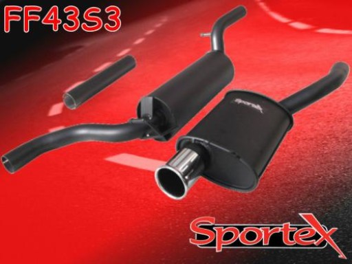 Sportex Ford Focus performance exhaust system 1.4i 1998-2004 S3