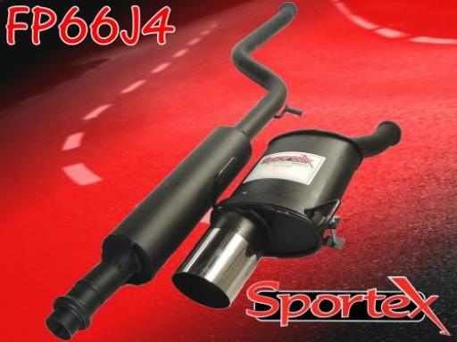 Sportex Peugeot 206 2.0i GTi performance exhaust system 1999-2007 J4