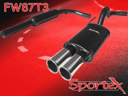 Sportex VW Polo exhaust system 1.4i 16v 1996-2000 T3
