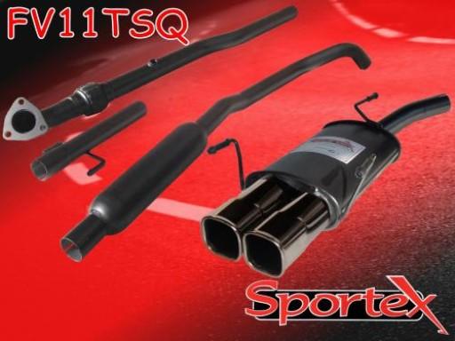 Sportex Vauxhall Corsa C performance exhaust system 2000-2003 TSQ