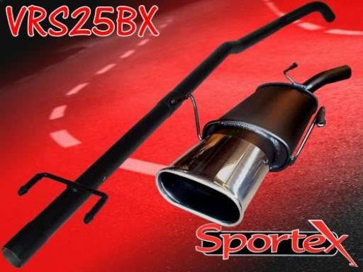 Sportex Vauxhall Corsa C performance exhaust system 2000-2006 BX